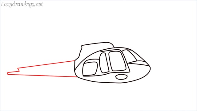 How to draw a Helicopter step (7)