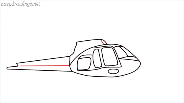 How to draw a Helicopter step (8)