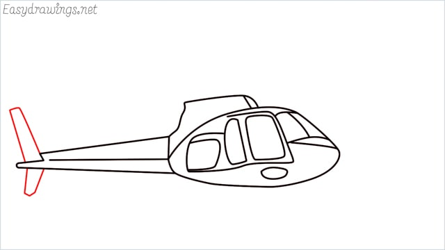 How to draw a Helicopter step (9)
