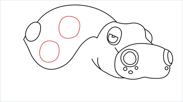 How to draw a Hippowdon step (11)
