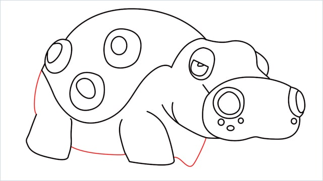 How to draw a Hippowdon step (14)