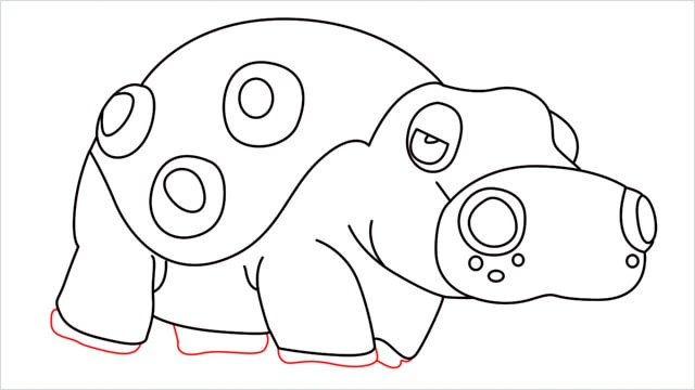 How to draw a Hippowdon step (16)