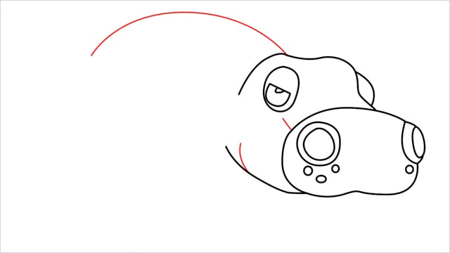 How to draw a Hippowdon step (8)