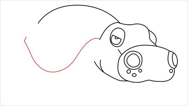 How to draw a Hippowdon step (9)