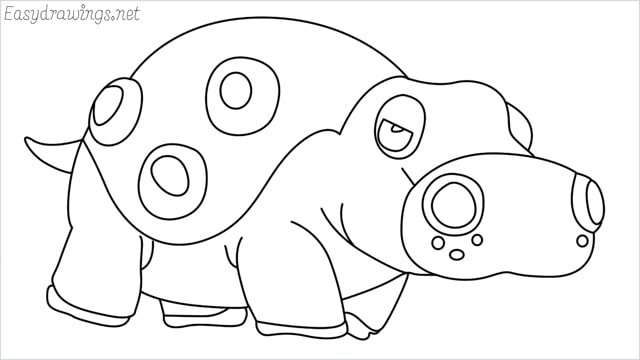 How to draw a Hippowdon step by step