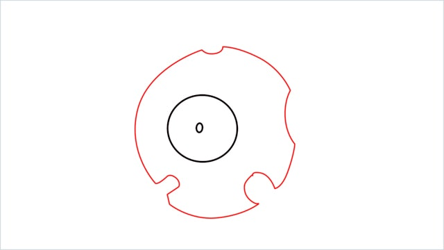 How to draw a Magnemite step (2)