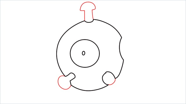 How to draw a Magnemite step (3)