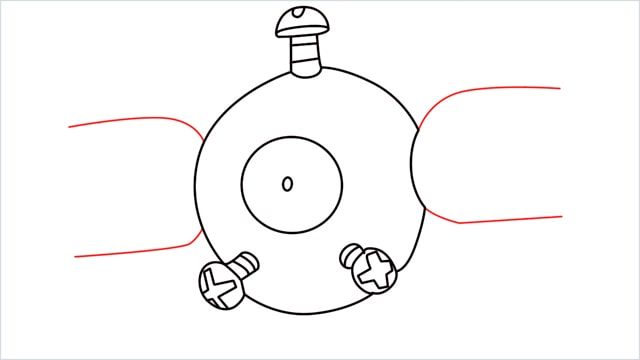 How to draw a Magnemite step (6)