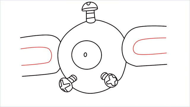 How to draw a Magnemite step (7)