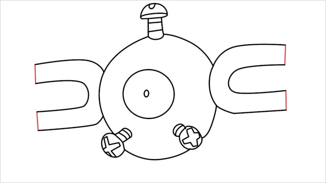 How to draw a Magnemite step (8)