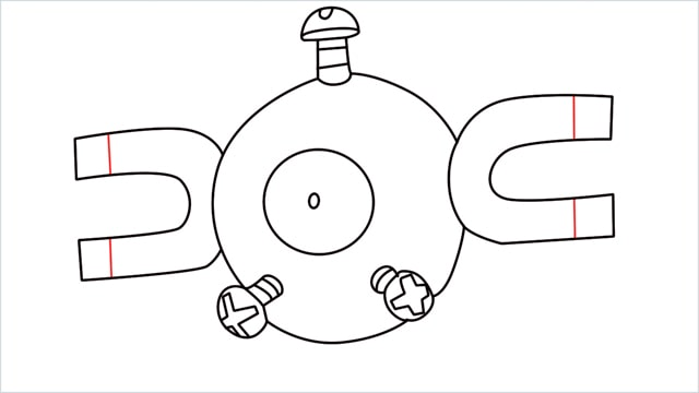 How to draw a Magnemite step (9)