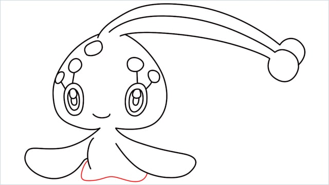 How to draw a Manaphy step (9)