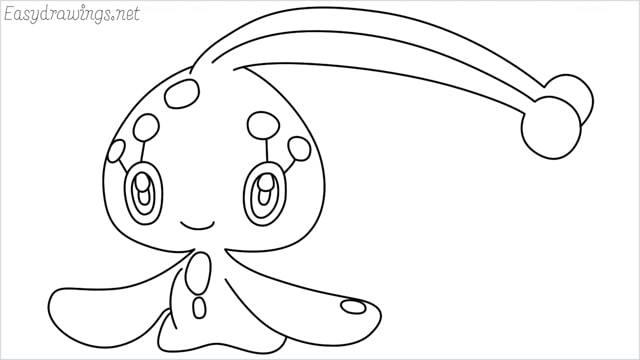 How to draw a Manaphy step by step