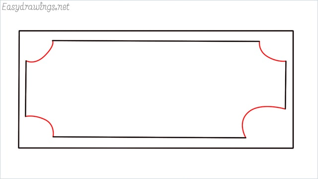 How to draw a Money step (3)
