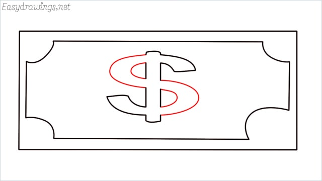 How to draw a Money step (6)