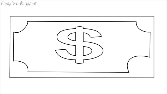 How to draw a Money step by step