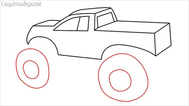 How to draw a Monster truck step (11)