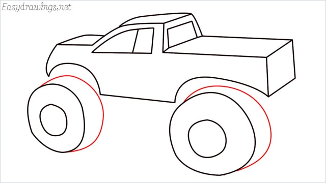 How to draw a Monster truck step (12)