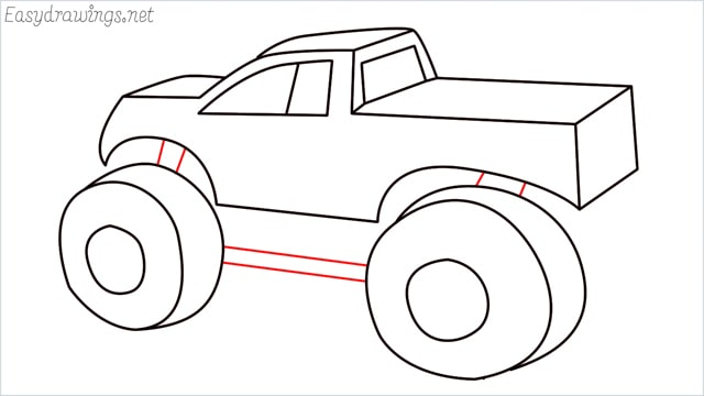 How to draw a Monster truck step (13)