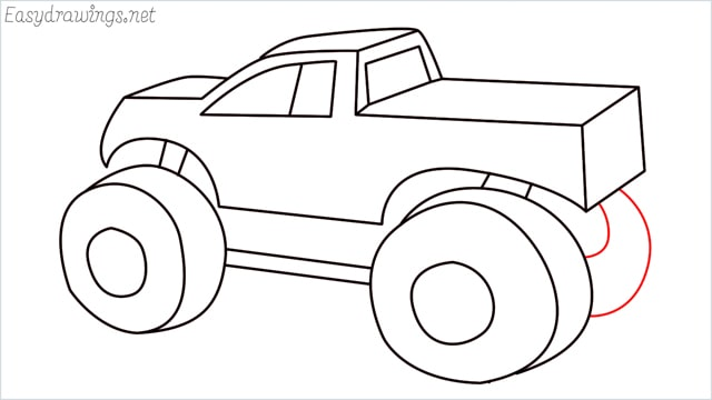 How to draw a Monster truck step (14)