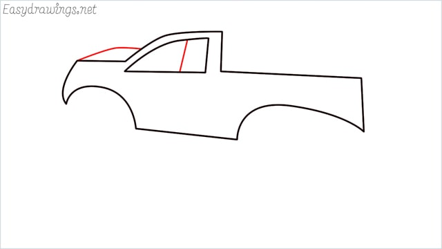 How to draw a Monster truck step (6)