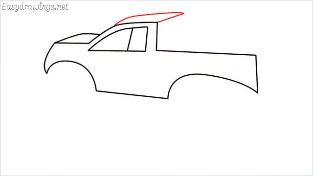 How to draw a Monster truck step (7)