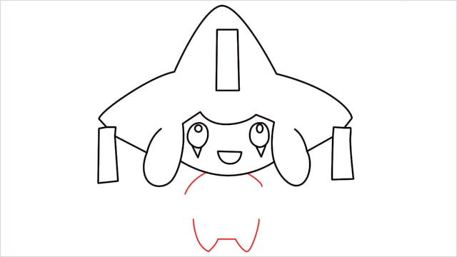 How to draw a Mythical Pokemon Jirachi (10)