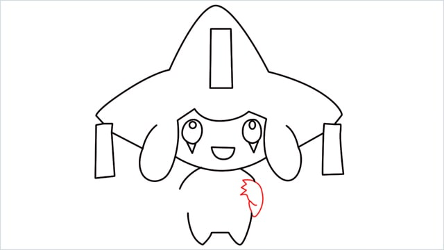 How to draw a Mythical Pokemon Jirachi (11)