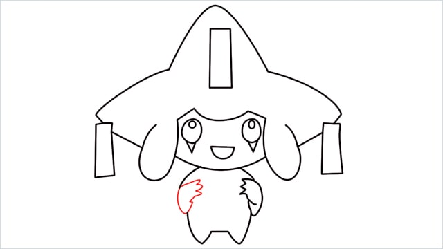 How to draw a Mythical Pokemon Jirachi (12)
