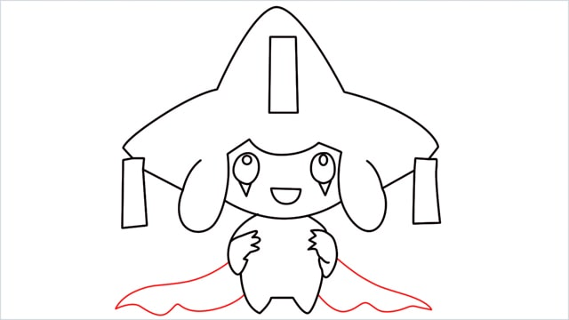 How to draw a Mythical Pokemon Jirachi (13)