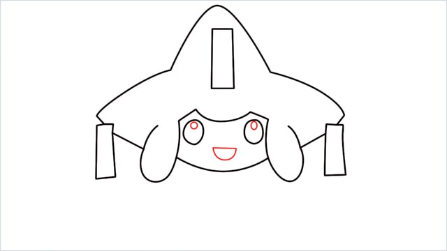 How to draw a Mythical Pokemon Jirachi (8)
