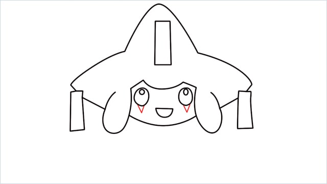 How to draw a Mythical Pokemon Jirachi (9)