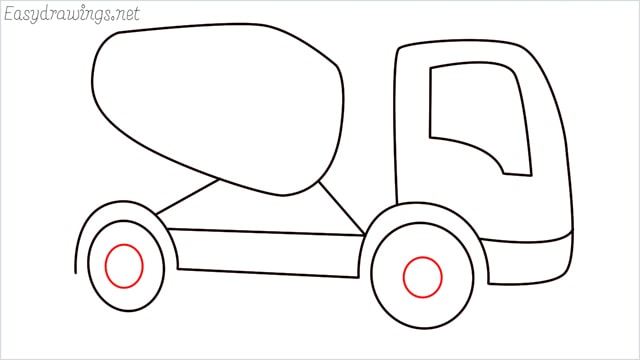 How to draw a cement truck step (10)