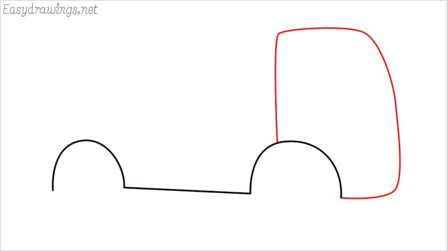 How to draw a cement truck step (3)