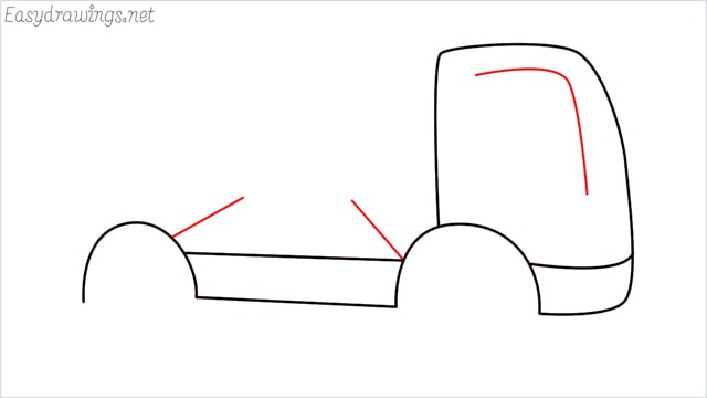How to draw a cement truck step (5)