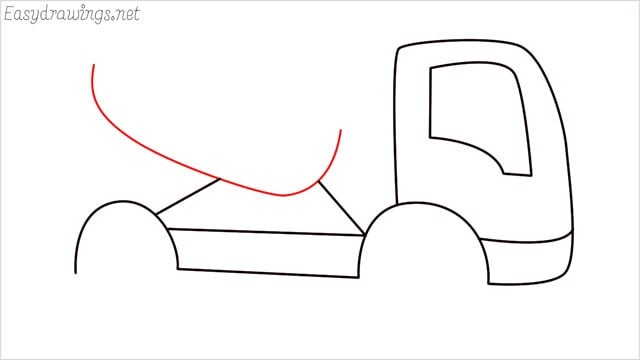 How to draw a cement truck step (7)