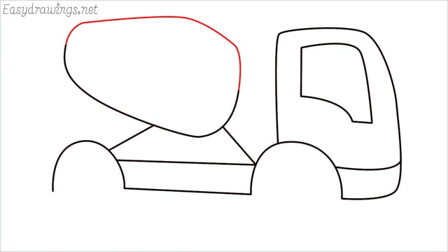 How to draw a cement truck step (8)
