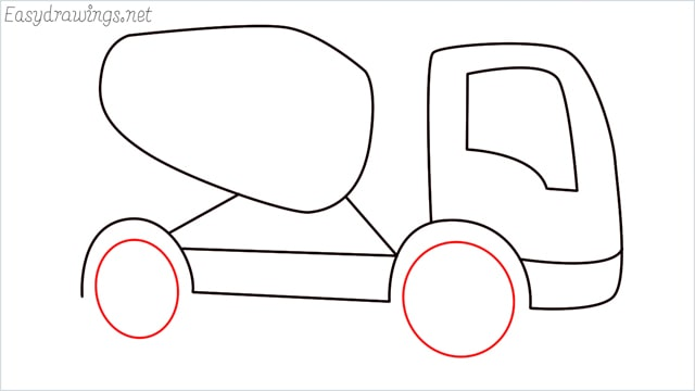 How to draw a cement truck step (9)