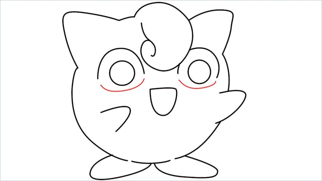 How to draw a cute pokemon Jigglypuff step (10)