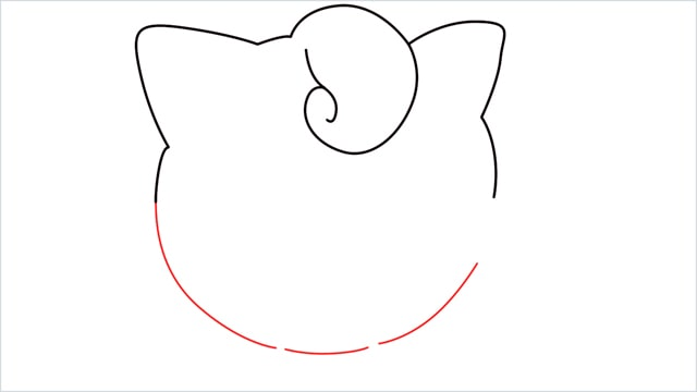 How to draw a cute pokemon Jigglypuff step (5)