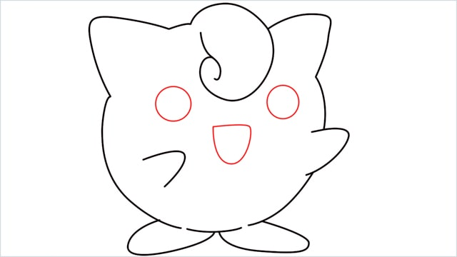 How to draw a cute pokemon Jigglypuff step (8)