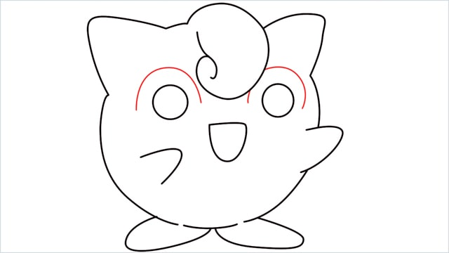 How to draw a cute pokemon Jigglypuff step (9)