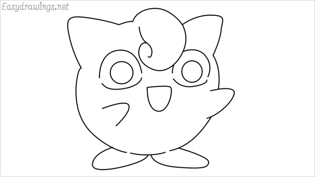 How to draw a cute pokemon Jigglypuff step by step