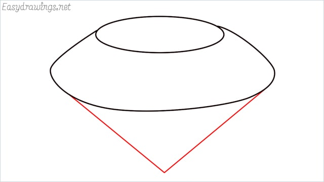How to draw a diamond step (3)