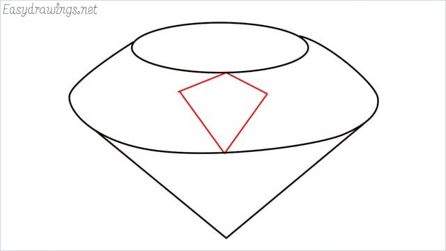 How to draw a diamond step (4)