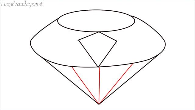 How to draw a diamond step (5)