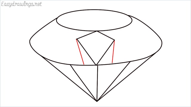 How to draw a diamond step (6)
