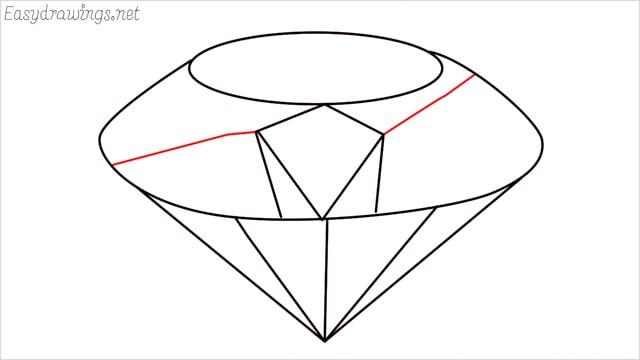 How to draw a diamond step (7)