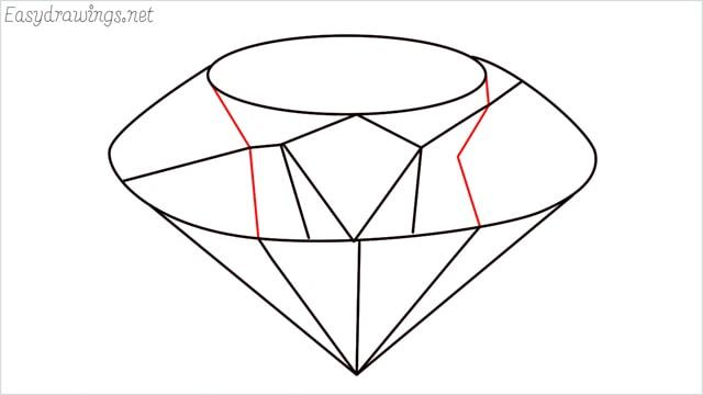 How to draw a diamond step (8)