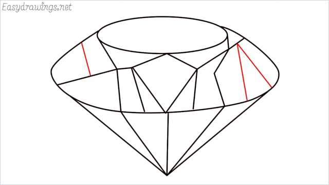 How to draw a diamond step (9)